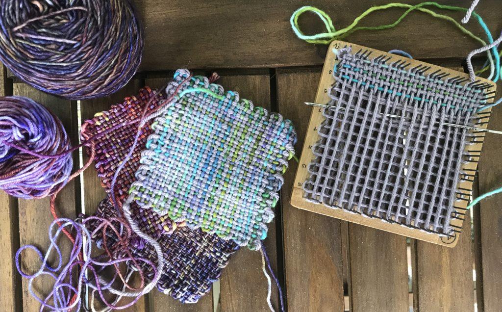 Learning Pin Loom Weaving
